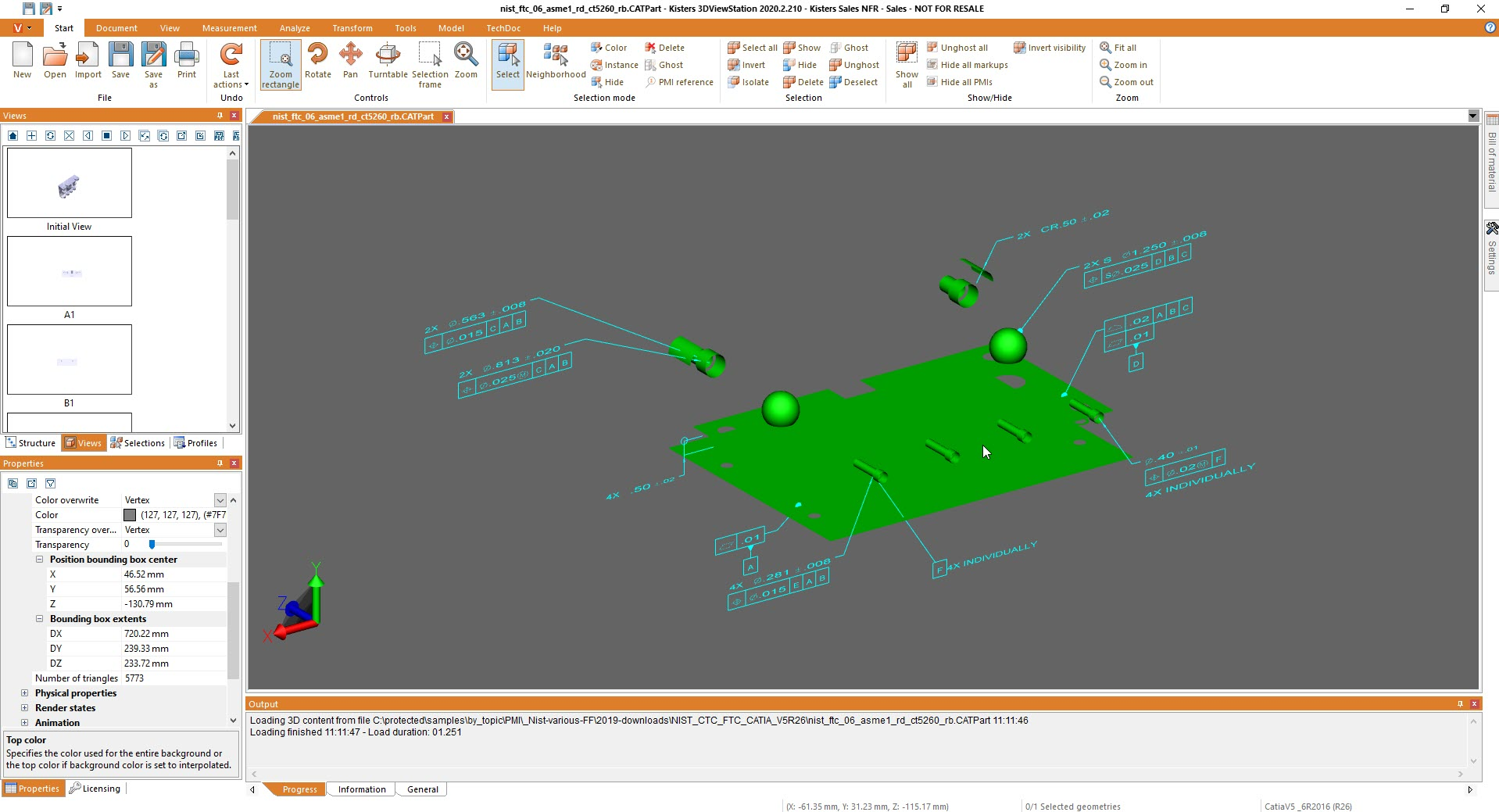 isolate selection of multiple PMIs - 3D CAD viewer 3DViewStation