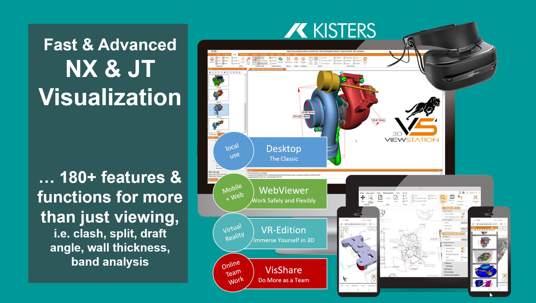 Kisters 3DViewStation: NX Viewer and JT Viewer